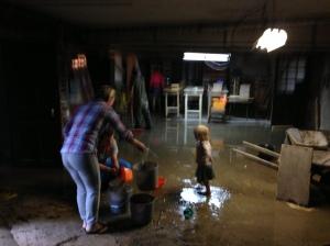 Überschwemmung...
