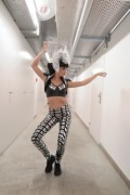 Zora wearing Rider wearing costume by Nina Haas